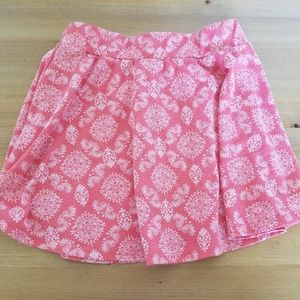 Xhilaration Girls Skirt Pink With White Pattern
